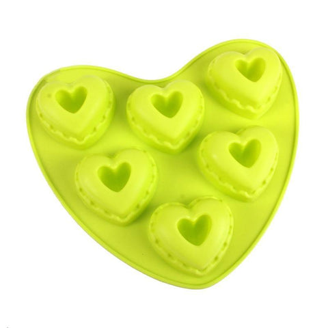 Heart Shaped Healthy Silicone Cake & Bread Rolls Baking Mold