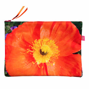 "Grande Pochette ""Orange"" (taille ipad)"