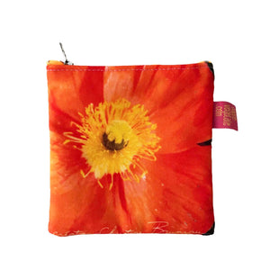 Porte-monnaie Orange, recto, design by Nappe Vegetale