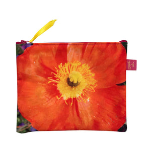 Pochette 20x16 cm,Orange, design Nappe Vegetale