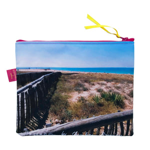 Pochette 20x16 cm, photo Hossegor, design Nappe Vegetale verso