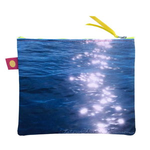 Pochette 20x16 cm, collection Pleine Mer, design Nappe Vegetale