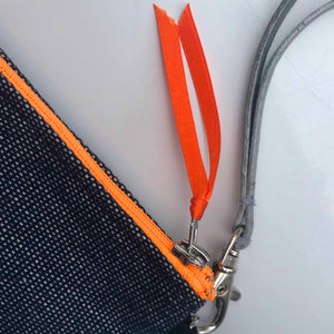Pochette Jean Zip Orange fluo