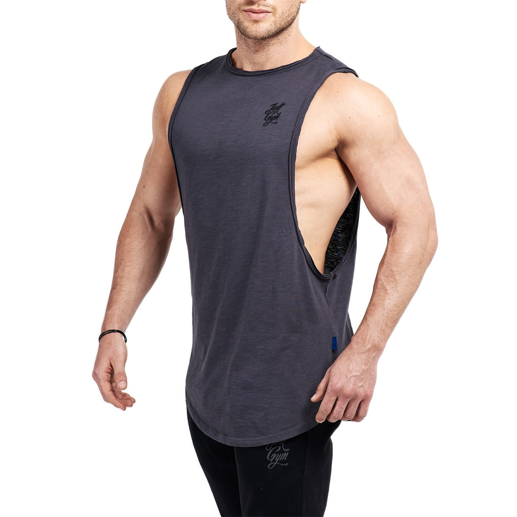 JustGym Tank Top long - asphalt