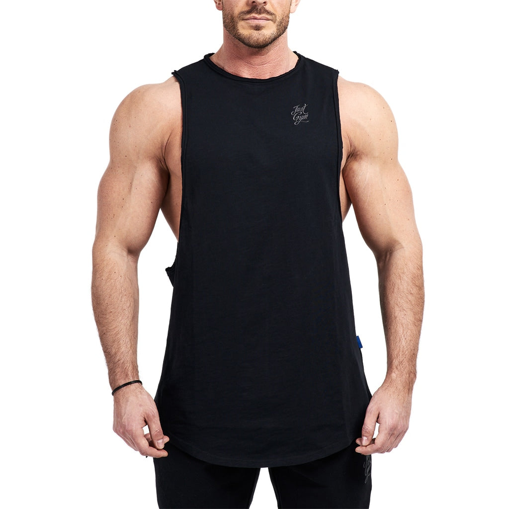 JustGym Tank Top long - black