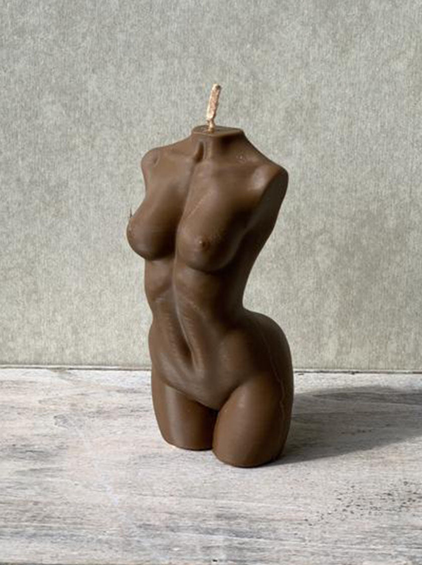 Female Torso Candle Small - Cacao