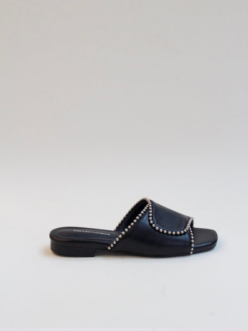 ELIA BLACK CROSS OVER SANDALS
