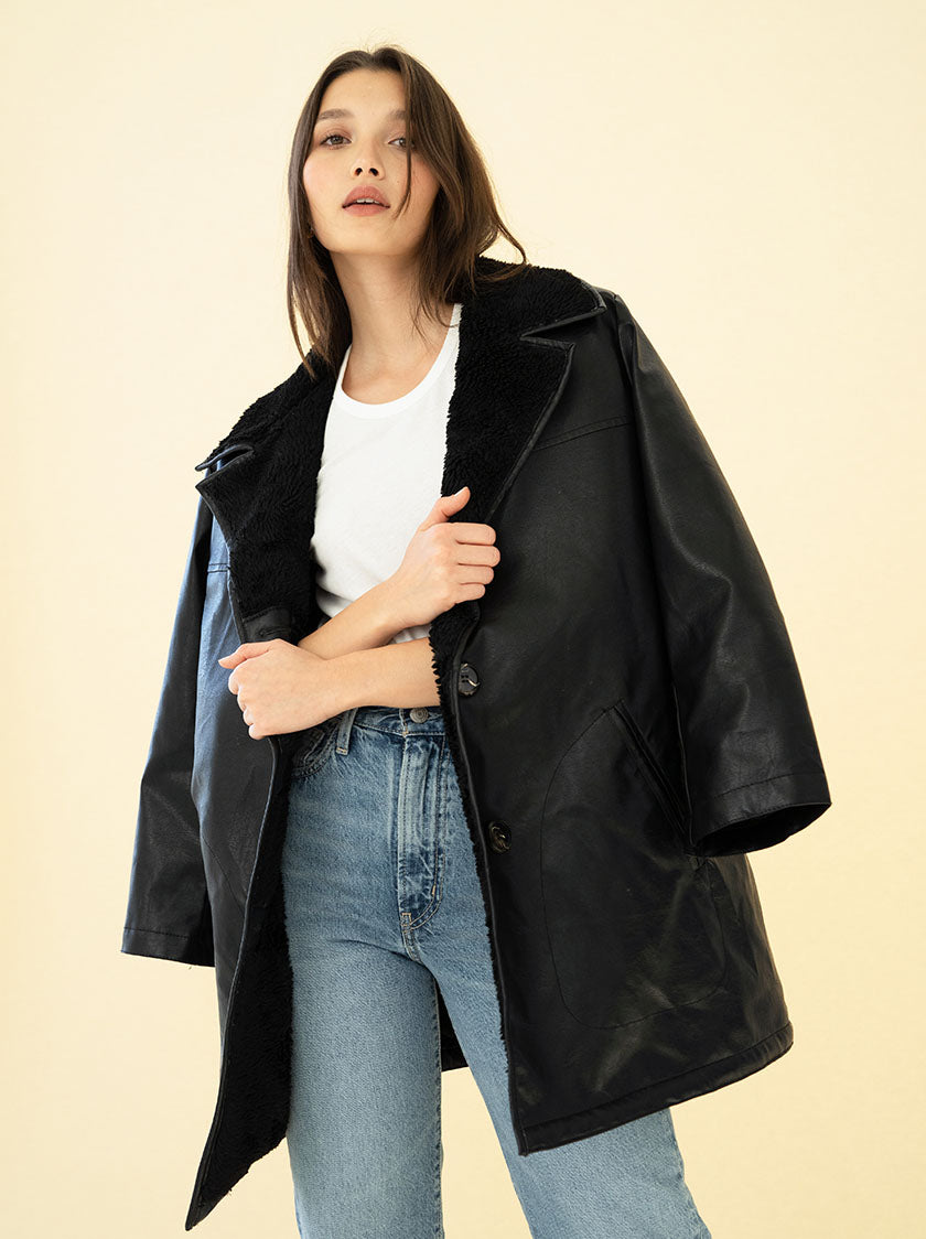 AUDREY COAT - BLACK