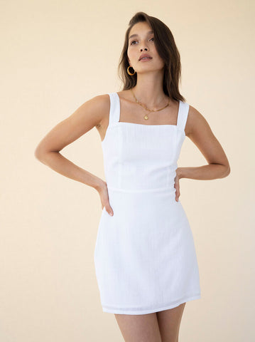 Jacy Slip Dress - White Jasmine