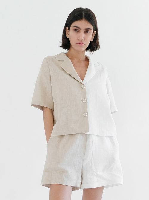 Nora Shirt - White/Latte