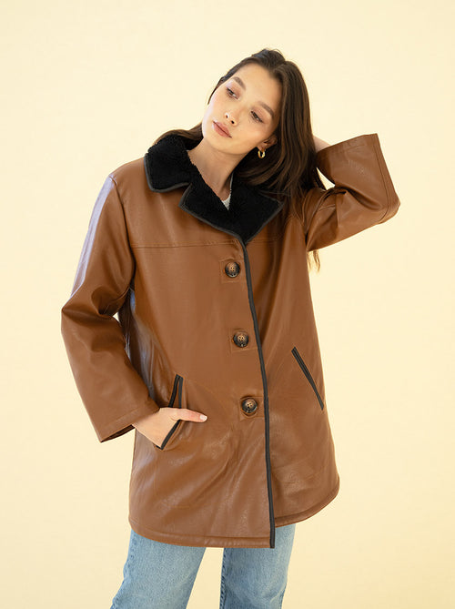 AUDREY COAT - BROWN