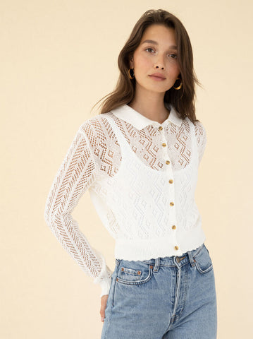 Lotus Blouse - Pearl