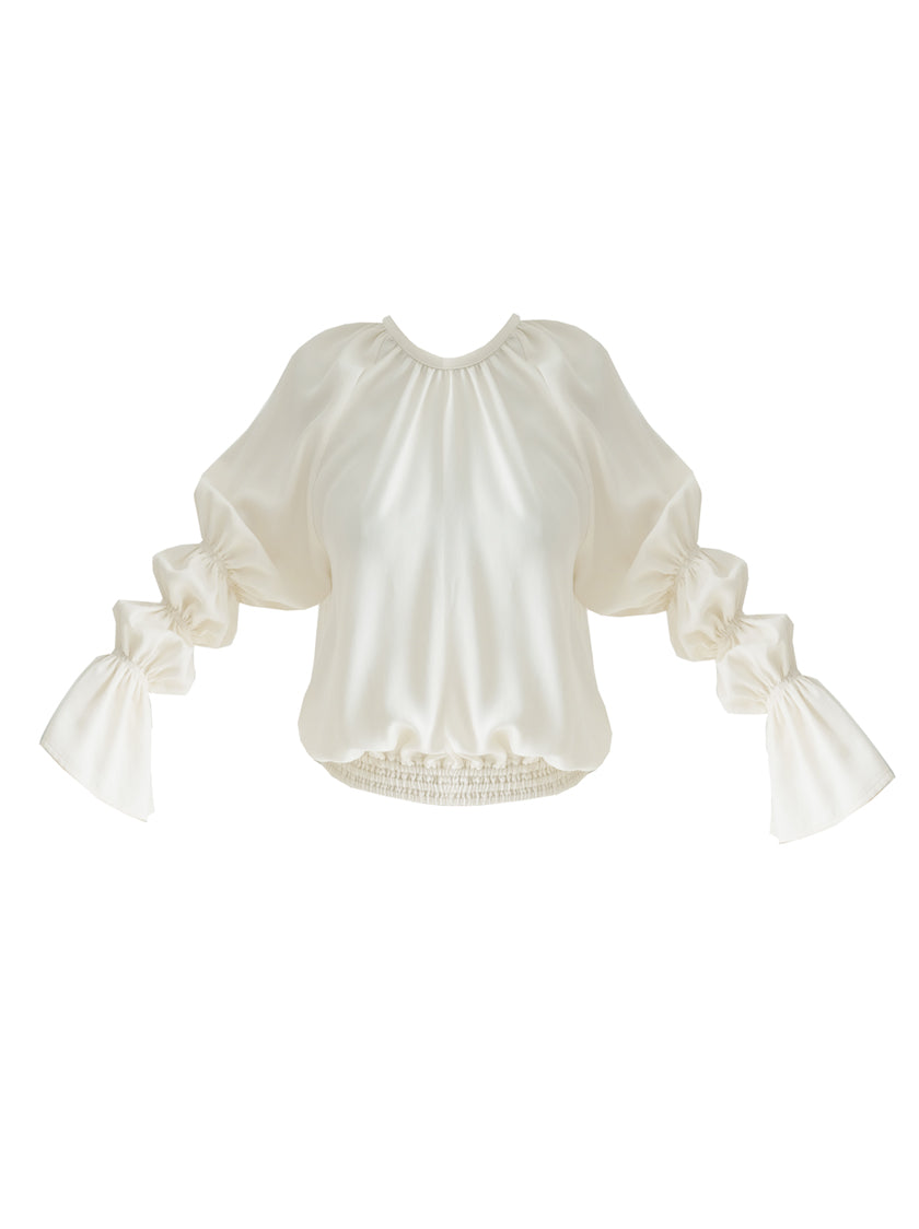 Monday Marie Puff Sleeve Top - Cream