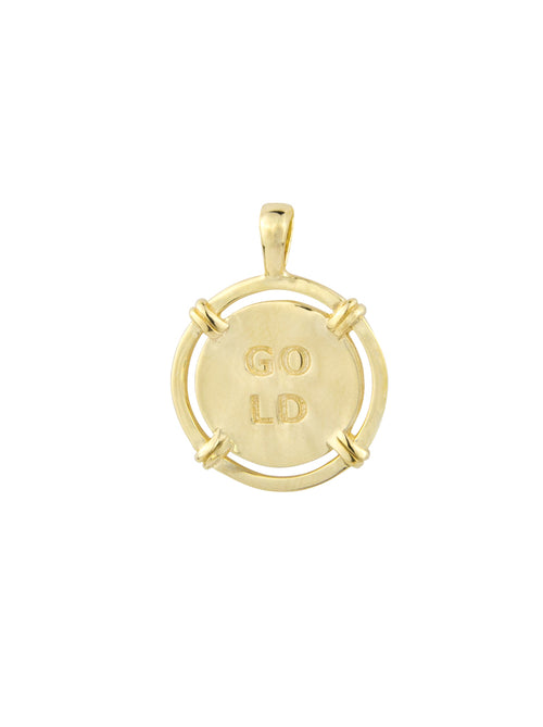 Golden Hour Coin Pendant - Gold