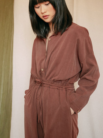 Yakamoz Blouse - Dusty Brown