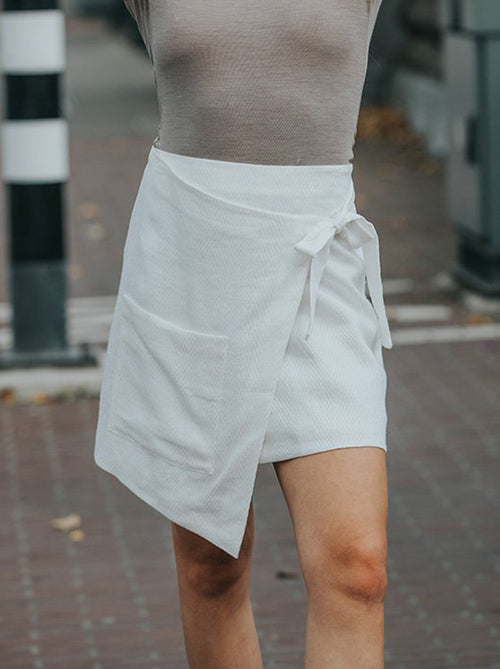 Wrapped Pocket Skirt