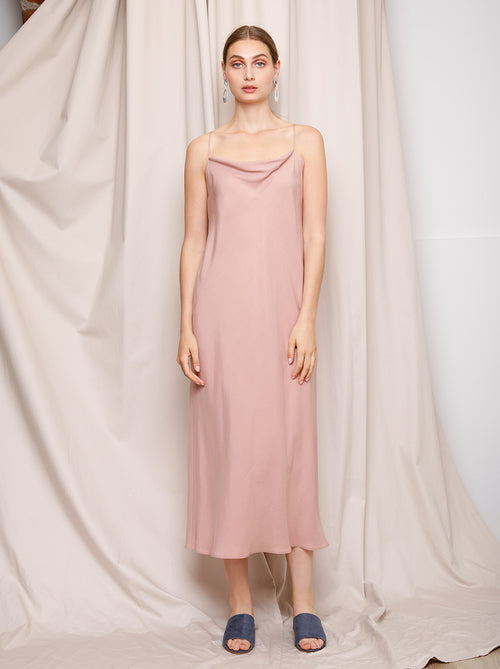 Hailey Slip Dress - Strawberry Sorbet