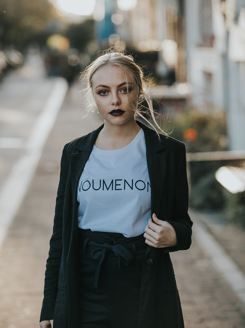 noumenon white tee shirt vegan fashion