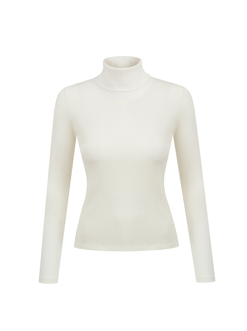 Turtle Neck Top - Off White