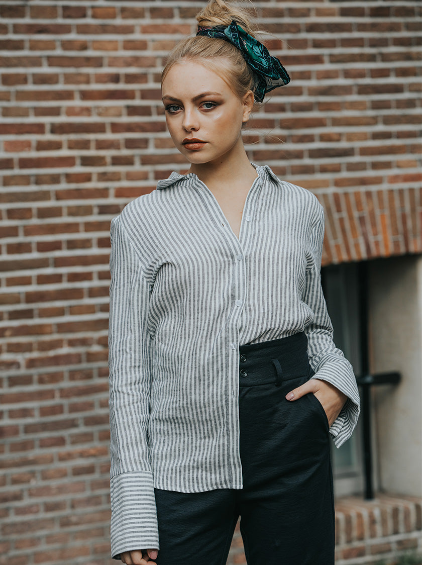 oversized cuff shirt vegan fashion