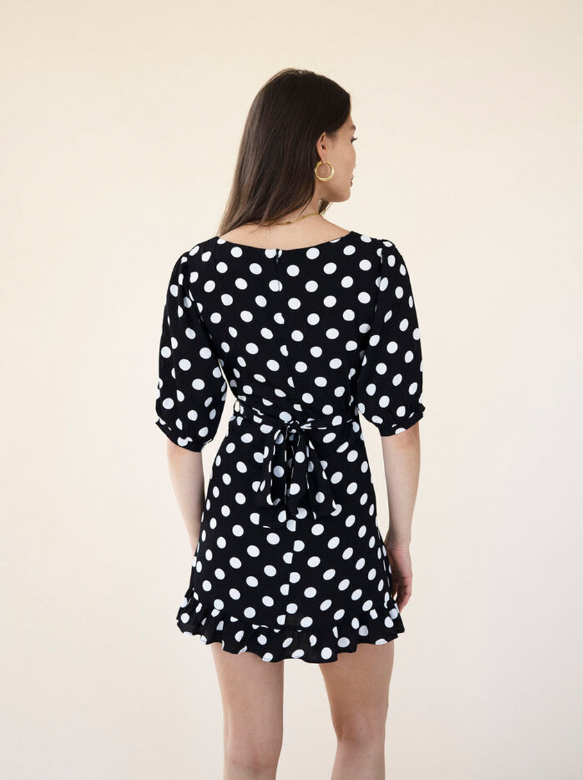 Maeve Dress - Noir Spot