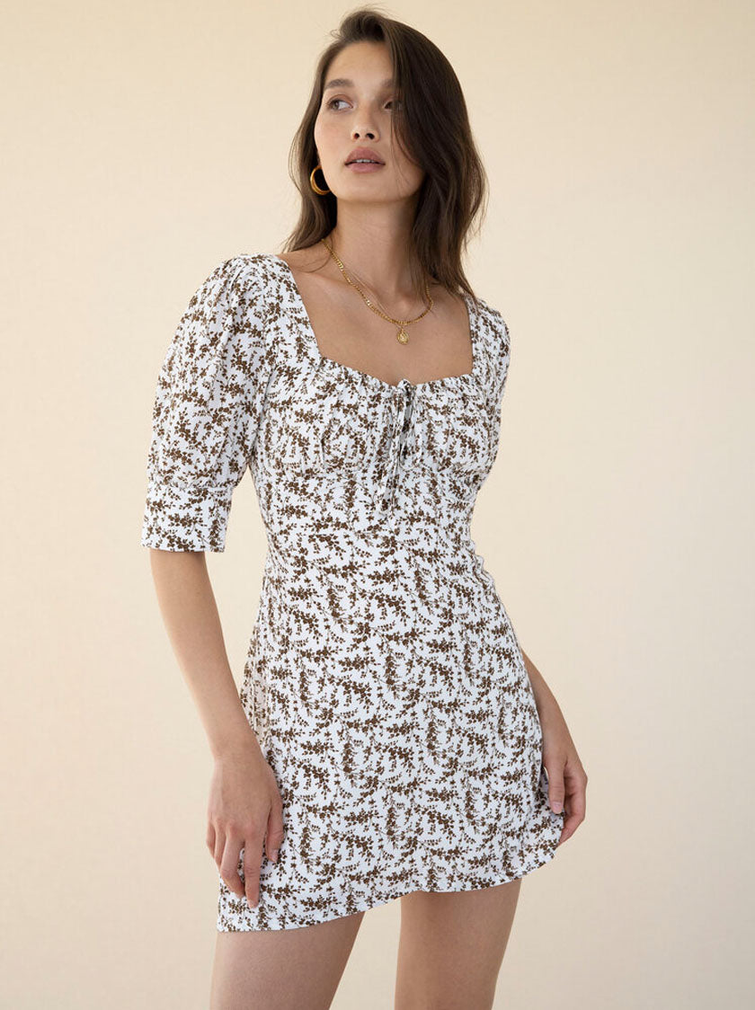 Greta Dress - White Jasmine