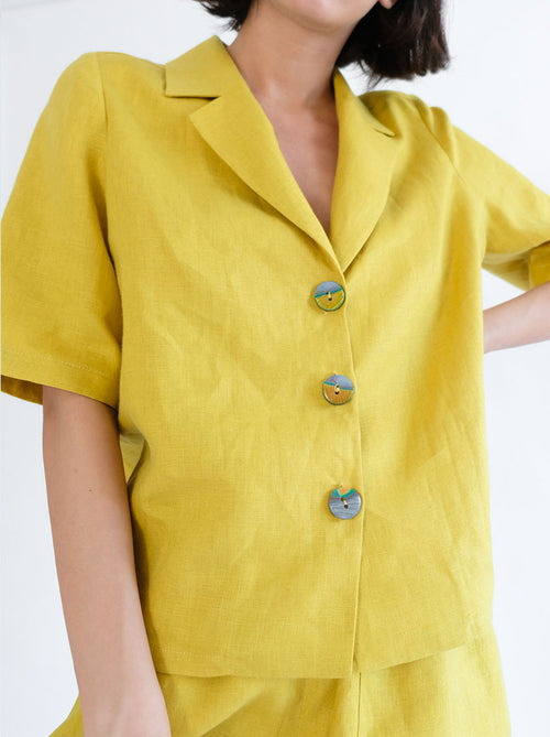 Nora Shirt - Lemon Zest