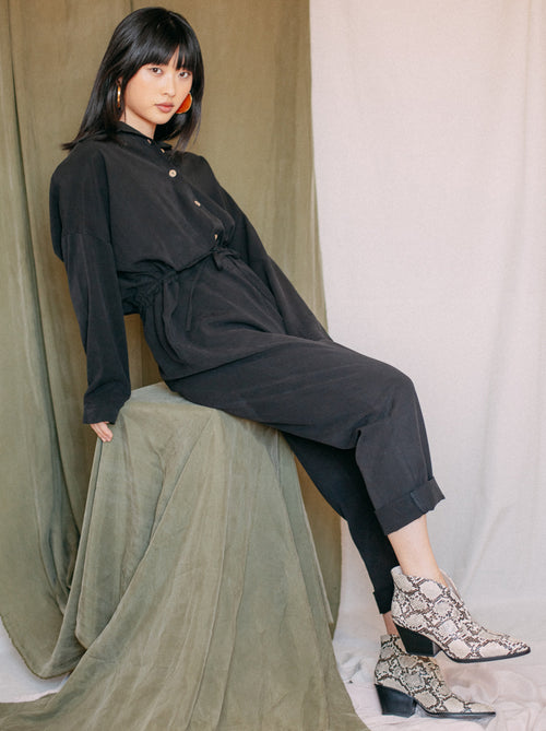 Boiler Suit Jumpsuit - Black