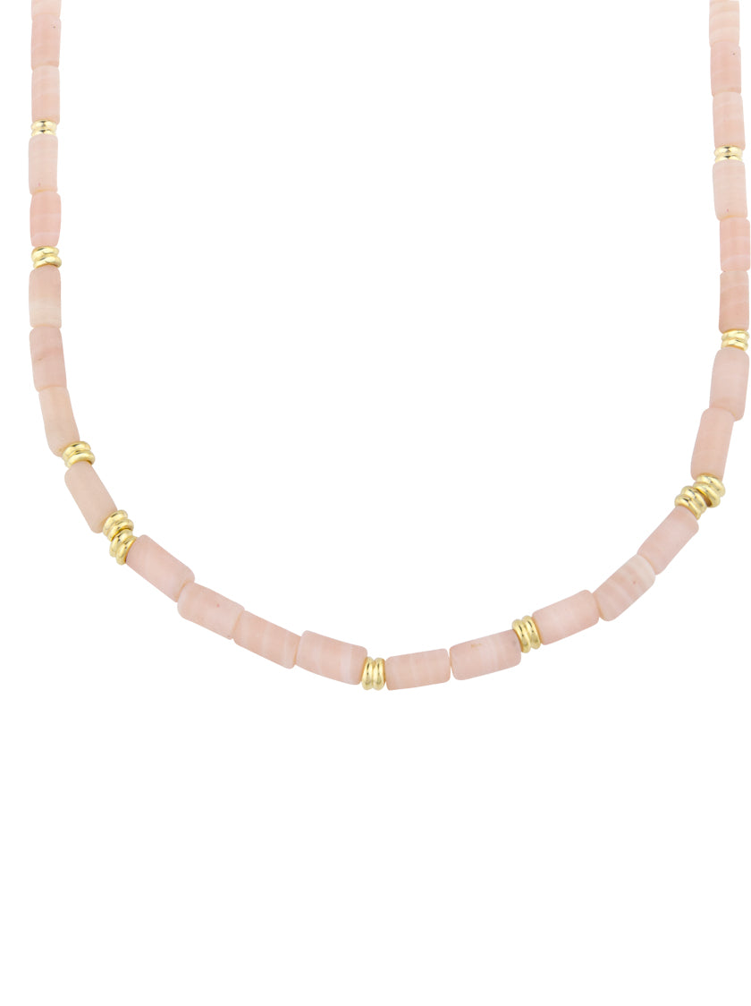 Pink Cloud Necklace - Gold