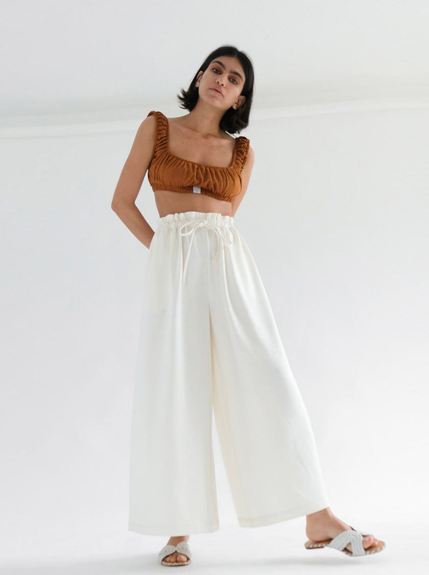 Heather Trousers - White