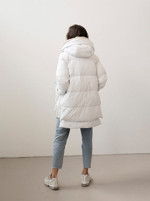 LYNDON - Off-White Puffer Jacket