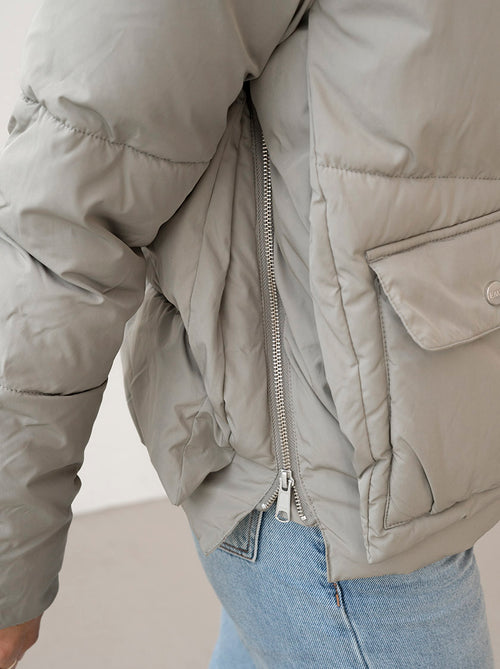 LEICESTER - Pale Olive Puffer Jacket