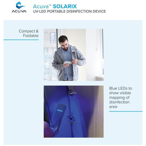 Acuva™ SOLARIX UV-LED Portable Disinfection Device – Kills 99.9% of Viruses just in 10 Seconds