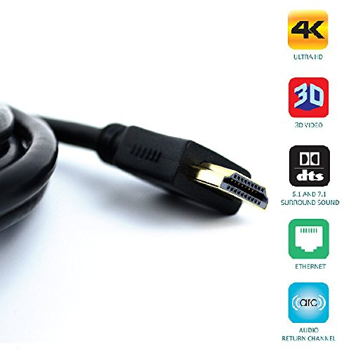 QualGear® 3 Feet HDMI 2.0 cable with 24k Gold Plated Contacts, Supports 4k Ultra HD, 3D, Upto 18Gbps, Ethernet, 100% OFC and Connects Blu-ray players, Apple TV, PS4, PS3, Xbox360, Xbox one, Computers and Other HDMI-endabled devices (QG-CBL-HD20-3FT)