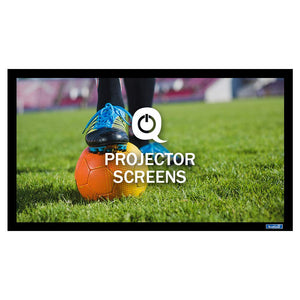 QualGear® QG-PS-FF6-169-100-S 16:9 Fixed Frame Projector Screen, 100-Inch 3D High Reflective Silver 2.5 Gain