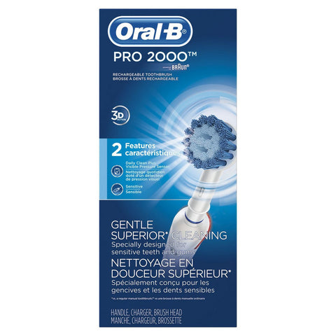 Oral-B PRO 2000 Braun Power Rechargeable Electric Toothbrush