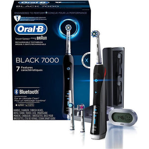 Oral-B 7000 Electric Toothbrush Braun Black with 3 Brush Heads, Bluetooth & Travel Case