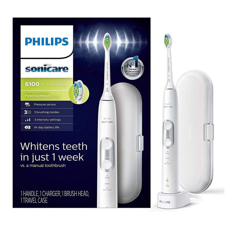 Philips Sonicare ProtectiveClean 6100 Whitening Rechargeable Electric Toothbrush, HX6877/21