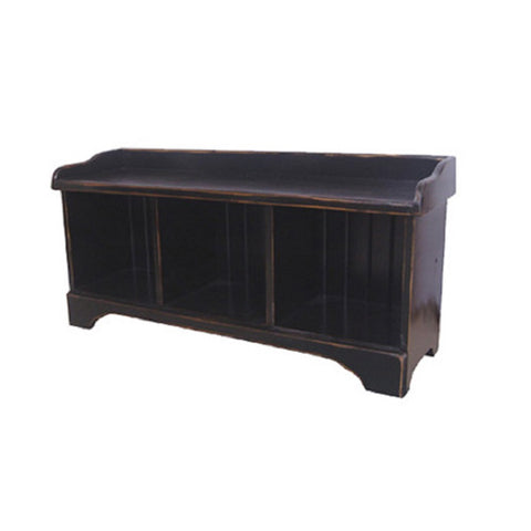 NAAV-260 3-Cube Cubby Bench Authentic Canadian Made Rustic Furniture