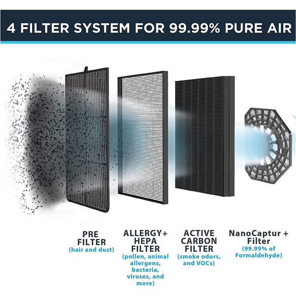 Rowenta PU3040U0 Pure Air Purifier Cleaner with Filter - Blemished Package - Open Box  Refurbished + Free 20 CMS T-fal Fry Pan