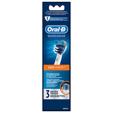 Oral-B Professional Care Deep Sweep Electric Toothbrush Replacement Brush Heads Refill, 3 Count, 2 Pack