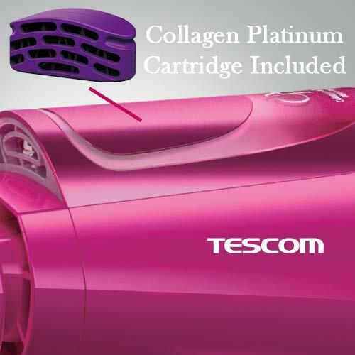 Tescom Collagen, Platinum and Nano Ion Hair Dryer, 1500W (Made in Japan) (Pink)