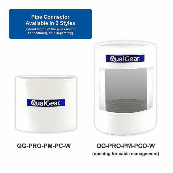 "QualGear® QG-PRO-PM-2FT-W Pro-AV 1.5""Fixed Extension Mounts Ceiling Adapters"