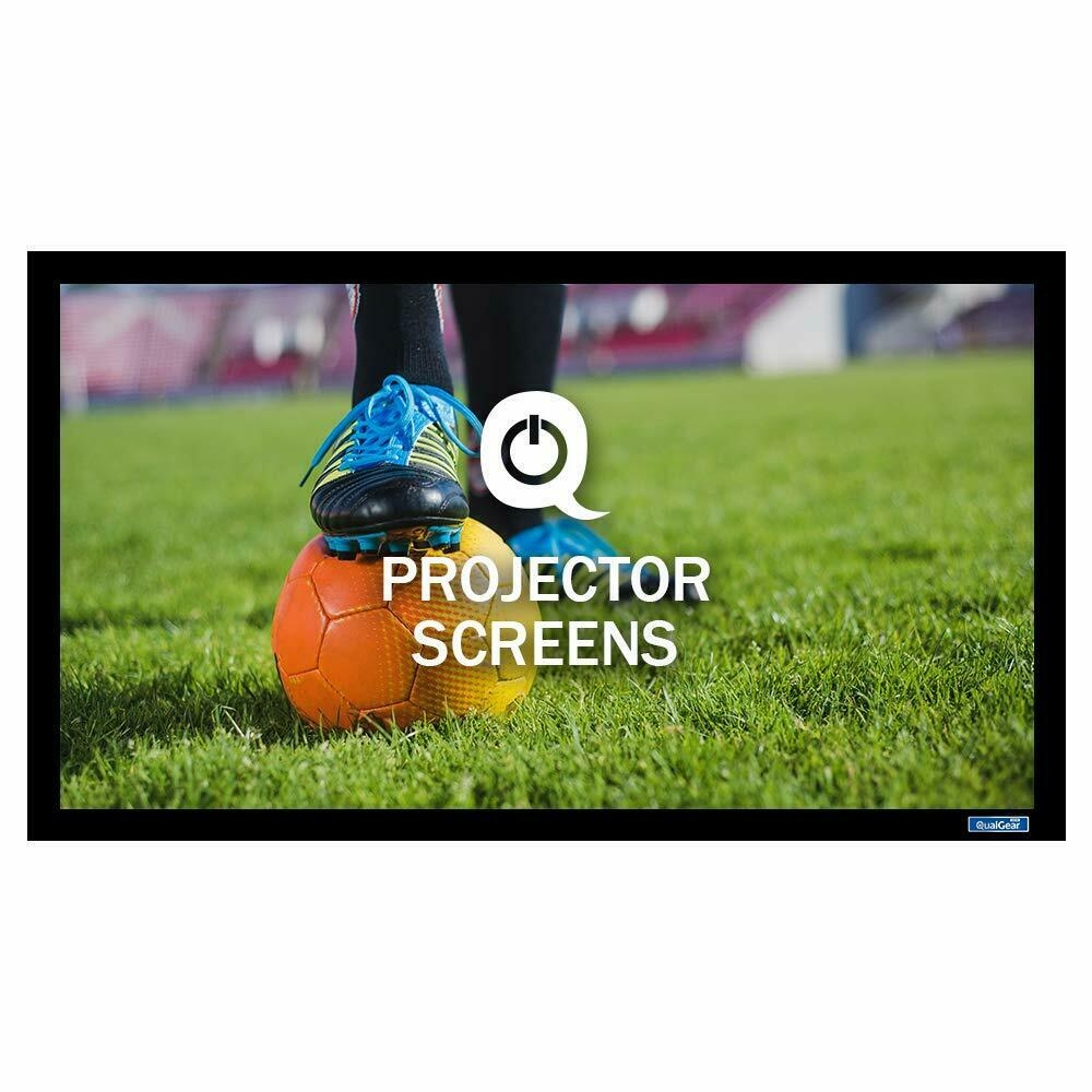 QualGear® QG-PS-FF6-169-150-G 16:9 Fixed Frame Projector Screen, 150-Inch High Contrast Gray 0.9 Gain