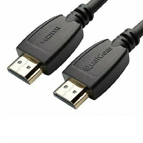 Qualgear® 12 Ft High Speed HDMI 2.0 cable with 24k Gold Plated Contacts, Supports 4k Ultra HD, 3D, Upto 18Gbps, Ethernet, 100% OFC (QG-CBL-HD20-12FT)