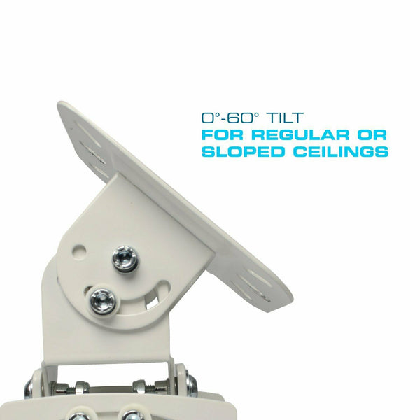 "QualGear® PRB-717-WHT 6.6"" - 16"" Top Quality Universal Ceiling Projector Mount"
