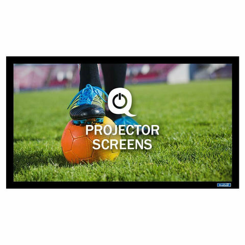 QualGear® QG-PS-FF6-169-150-A 16:9 Fixed Frame Projector Screen, 150-Inch, High Definition 1.0 Gain Acoustic White