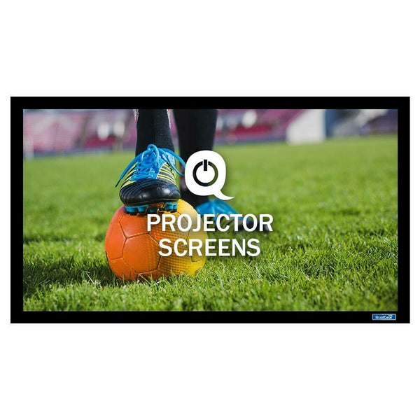 QualGear® QG-PS-FF6-169-92-A 16:9 Fixed Frame Projector Screen, 92-Inch, High Definition 1.0 Gain Acoustic White