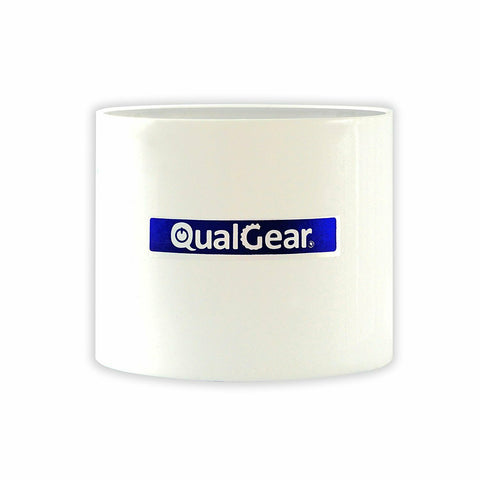 "QualGear® QG-PRO-PM-PC-W Pro-AV 1.5"" High Quality White Pipe Projector Connector"
