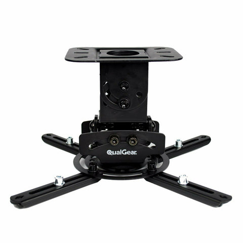 "QualGear® PRB-717-BLK 6.6""-16"" High Quality Universal Ceiling Projector Mount"